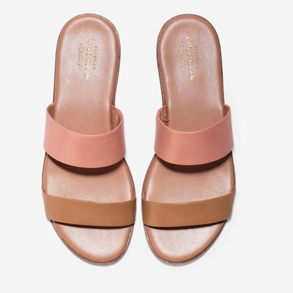 Cole Haan Findra Flat Beige And Blush